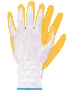 Werkhandschoenen maat m geel latex