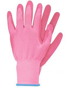 Werkhandschoenen maat s roze latex