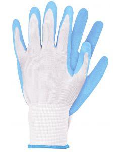 Werkhandschoenen maat s licht blauw