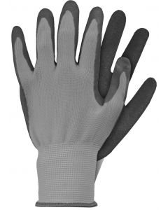 Werkhandschoenen maat m grijs latex