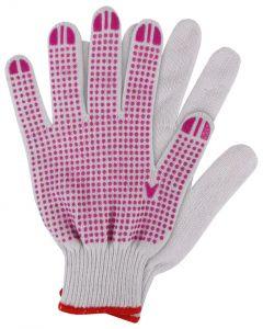 Werkhandschoenen maat xl. katoen roze