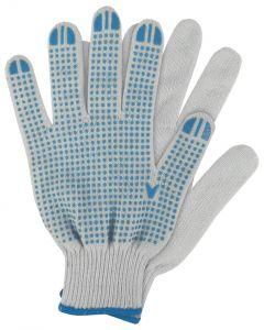 Werkhandschoenen maat xl. katoen blauw