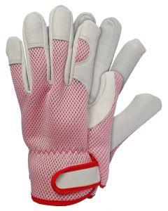 Werkhandschoenen maat l geitenleer roze