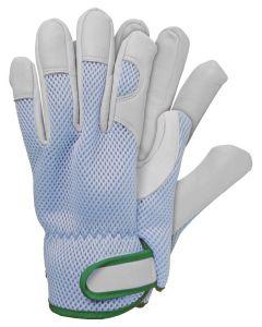 Werkhandschoenen maat l geitenleer blauw