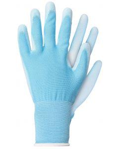 Werkhandschoenen maat l licht poly blauw