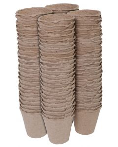 Turfpotjes rond 8cm (96 stuks)