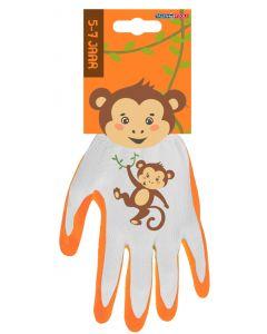 Kinderhandschoen 5-7 jaar aap