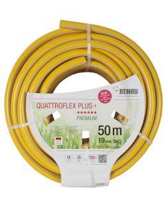 """Gele slang 3/4"""" 50m getricoteerd no torsion white plus (fitt)"""