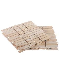 Wasknijpers hout 48 stuks