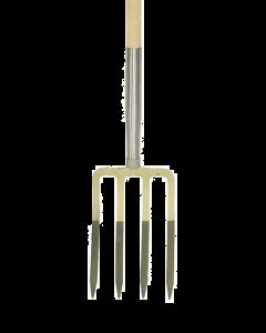 Spitvork 4 t, met stift met bol-steel 100 cm