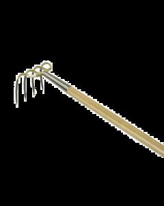 Kleine vierhaak, met stift met bol-steel 135 cm