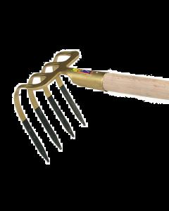 Mesthaak 4 platte t, met huls met bol-steel 135 cm