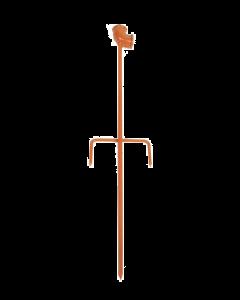 """""""Metalen piket elleboog met 3/4""""""""aansluiting inwendige draad lengte 60 cm"""""""