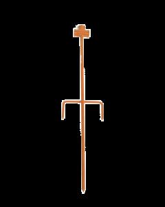 """Metalen piket t met 1/2"""" aansluiting inwendige draad lengte 60 cm"""