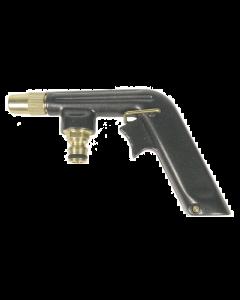 Regelbare pistoolspuit met messing nippel op kaart