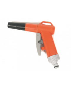 Regelbare pistoolspuit met nippel (pvc)